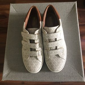 MICHAEL KORS Leather Canvas monogram sneaker